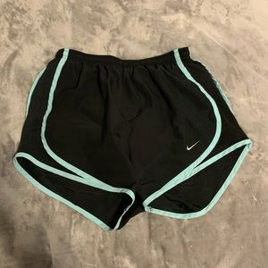 Nike Black and Blue Women's Dri-Fit Shorts